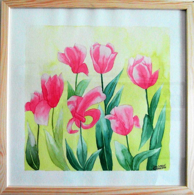 Tulipes-aquarelle