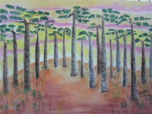 Julia-ArtMalala_Baobabs-En-douceur_Pastel_50X70