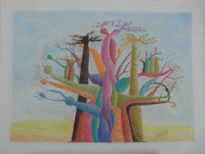 Baobabs de couleur